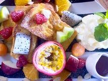 Fruchtiger Nachtisch Stockfotos