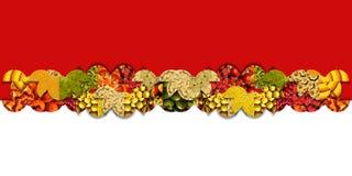 Fruchtiges dekoratives Band Stockfotos