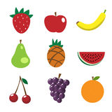 Fruchtikonen Stockfoto