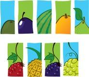 Fruchtikonen Lizenzfreie Stockbilder