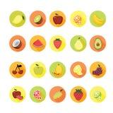 Fruchtikonen eingestellt Lizenzfreie Stockfotografie