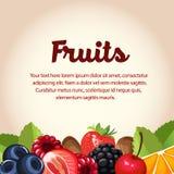 Fruchtkarte Stockfoto