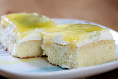 Fruchtkiwi-Kuchennahaufnahme Lizenzfreie Stockbilder