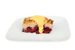 Fruchtkrümel und -vanillepudding Lizenzfreie Stockfotografie