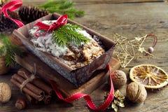 Fruchtkuchen für Weihnachten Stockfoto