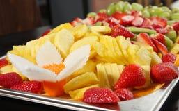 Fruchtmehrlagenplatte Stockfoto