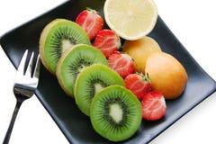 Fruchtmehrlagenplatte lizenzfreie stockfotos