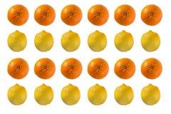 Fruchtmuster auf weißem Hintergrund Stockfotografie