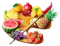 Fruchtpalette Stockfotografie