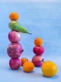 Fruchtpyramiden-Balancenstillleben Lizenzfreie Stockfotos