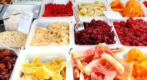 Fruchtsüßigkeit-Marktströmungsabriß Stockfotografie