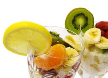 Fruchtsalat in den Cup Stockfoto