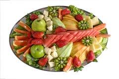 Fruchtsalat-Lebesmittelanschaffung-Mehrlagenplatte lizenzfreies stockbild