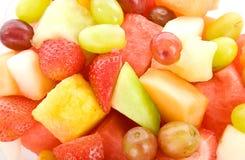 Fruchtsalat-Makrohintergrund Lizenzfreies Stockbild
