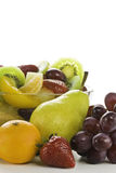 Fruchtsalat mit Platz für einen Text. Stockbild