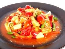 Fruchtsalat würzig Stockfoto