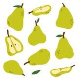 Fruchtsatz Birnen stockfoto