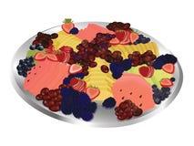 Fruchtservierplatte Stockbilder