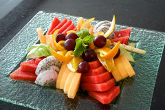 Fruchtservierplatte Lizenzfreie Stockbilder