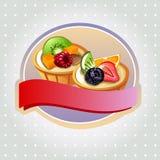 Fruchttortenaufkleber Lizenzfreie Stockfotografie