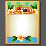 Fruchttortenplakat Stockfotografie