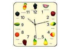 Fruchtuhr stockfotos