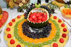 Fruchtverzierungen Stockfotos