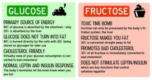 Fructosa de la glucosa ilustración del vector