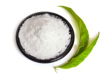 Fructose, or fruit sugar on plate. Fructose, or fruit sugar on plate stock photography