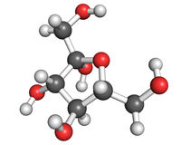Fructose molecule Royalty Free Stock Images