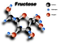 Fructose molecule Royalty Free Stock Photography