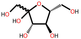 Fructose structural formula Stock Photo