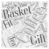 Frugal Gift Baskets word cloud concept word cloud concept  background Stock Photography