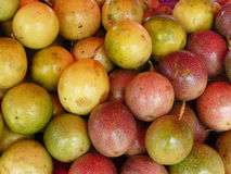 Frui rosso e verde di passione Immagini Stock