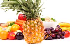 Frui2. Fresh Vegetables, Fruits and other foodstuffs. Shot in a studio Stock Image