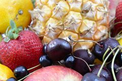 Fruiits. Huge group of fresh and fruits stock image