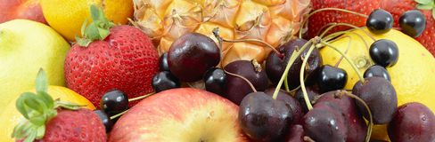 Fruiits. Huge group of fresh vegetables and fruits stock image