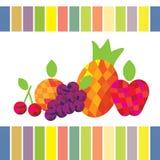 Fruit. Abstract  illustration apple pineapple cherry orange grape Stock Photography