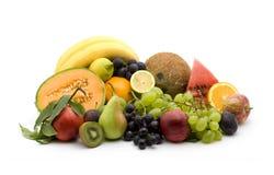 Fruit. Pile studio isolated over white Royalty Free Stock Photo