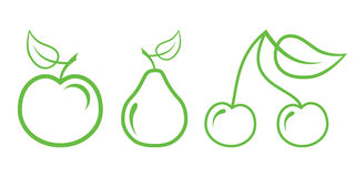 Fruit. Green Nature Icons. Part 2 - Fruit Royalty Free Illustration