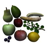 Fruit. 3d render of fruit collection Stock Image