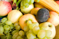 Fruit. Fresh ripe fruit, fruit background Stock Photo