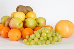 Fruit. Apple with grape, kiwi, orange Stock Photography