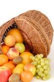 Fruit. Apple with grape, kiwi, orange Stock Image