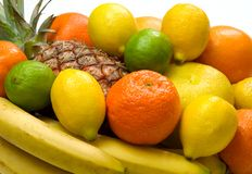Fruit. Close-up view of some tropical fruits stock photo