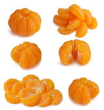 Fruit. Collection Mandarin isolated on white Royalty Free Stock Photo