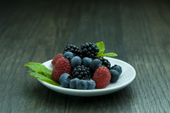 Fruit. Picture of some fruit on a white plate Stock Images
