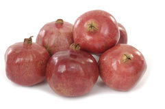Fruit. Pile of ripe pomegranates background Stock Image