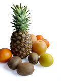 Fruit. Pineapple and summer fruit composition isolated on white background Stock Photo