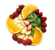 Fruit. Still life from juicy cut fruit Royalty Free Stock Image